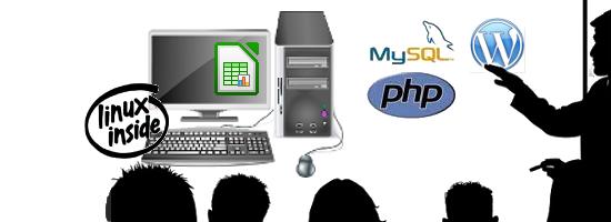Linux, php-mysql, LibreOffice, Wordpress